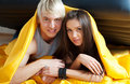 Free Young Couple Kissing In Bed Stock Photography - 18603092