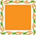 Free Orange Frame Of Carrots Stock Images - 18605434