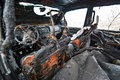 Free Burned Car Stock Photography - 18609422