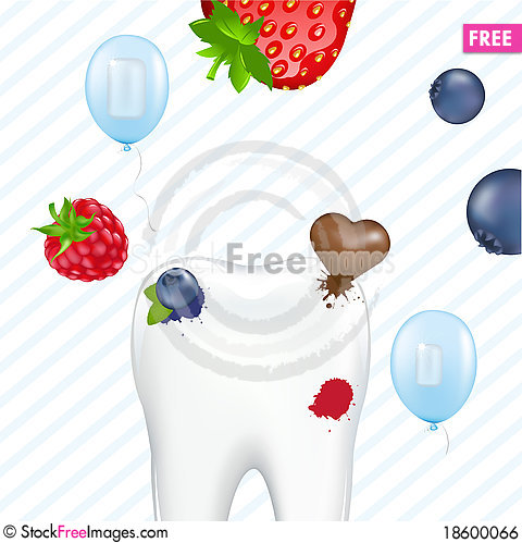 Free Tooth And Chewing Gum Royalty Free Stock Image - 18600066