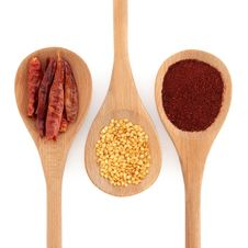 Chili Spice Selection Royalty Free Stock Photography