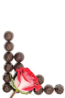 Free Rose And Chocolate Stock Photography - 18600482
