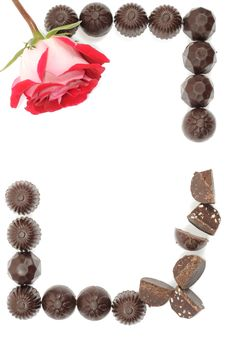 Free Rose And Chocolate Stock Photos - 18600513