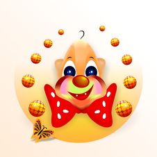Free Smiling Clown, Cdr Vector Royalty Free Stock Images - 18600749