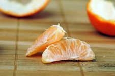 Delicious Juicy Tangerine Royalty Free Stock Photography