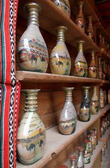 Free Tradicional Botlle Sand Art, Jordan Stock Photography - 18601092