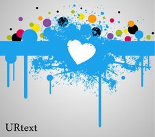 Free Blue Heart Stain And Paint Stock Photo - 18601240