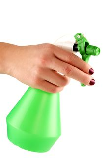Free Hand Of A Young Female Holding Sprayer For Flowers Stock Image - 18601241