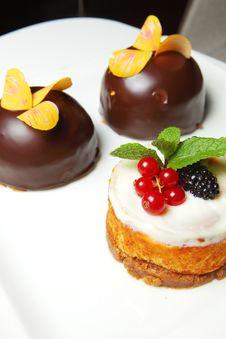 Free Three Sweet Cakes Royalty Free Stock Photos - 18601388
