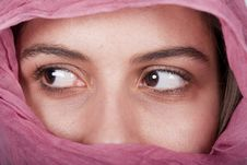 Free Woman With A Pink Veil Royalty Free Stock Photo - 18601575