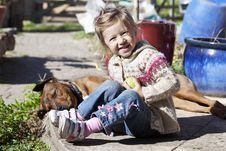 Free Girl And Dog Royalty Free Stock Image - 18601746
