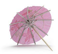 Free Rose Cocktail Umbrella Stock Photography - 18602032