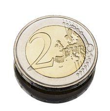 Free Two Euro Coin Worn Royalty Free Stock Photo - 18602225