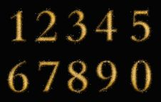 Free Gold Numbers Stock Image - 18602311