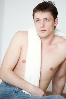 Free Portrait Of A Young Man With A Towel Royalty Free Stock Photo - 18602865