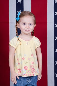 Free Happy American Girl Stock Photos - 18603413
