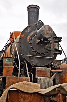 Free Old Soviet Locomotive Stock Photos - 18604193