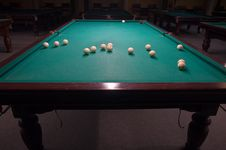 Free Billiard Table With Balls Stock Photos - 18604453