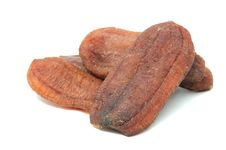 Free Dried Bananas Isolated On White Background Royalty Free Stock Photography - 18604887