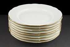 Free Pile Of Plates Stock Photography - 18605002