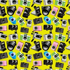 Free Seamless Camera Pattern Royalty Free Stock Photography - 18605257