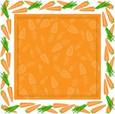 Free Frame From Different Carrots Royalty Free Stock Image - 18605356