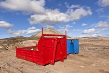 Free Loading Platform For Lorry In Volcanic Area Stock Images - 18605394