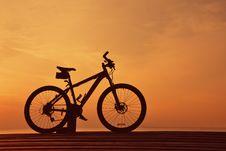 Bike Silhouette Stock Image