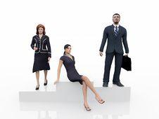 Free Executives On The Podium Stock Image - 18606621