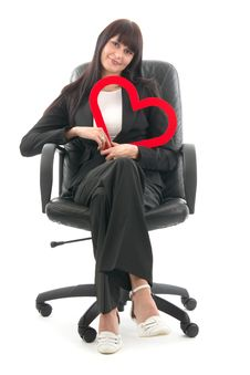 Free Woman Red Heart Stock Photos - 18606753