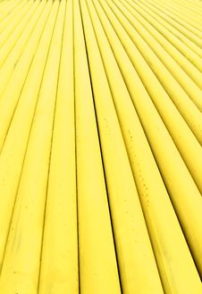 Stack Of Metallic Pipes In A Construction Site Stock Photography
