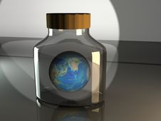 Free Earth In A Bottle Royalty Free Stock Images - 18607929
