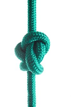 Free Rope With Marine Knot On White Background Royalty Free Stock Photography - 18608977