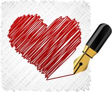 Free Scribbled Heart Shape. Royalty Free Stock Photography - 18609067