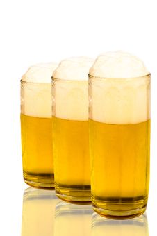 Free Three Glasses Of Beer Stock Photo - 18609200