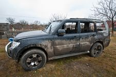 Free Burned Car Royalty Free Stock Image - 18609396