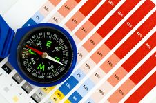 Free Compass And Diagram Stock Photography - 18609672