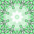 Free Green Ornamental Tile Stock Photography - 18612552