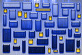 Free Blue And Yellow Glassy Tiles Royalty Free Stock Photography - 18613927
