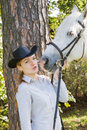 Free Young Woman With Her Horse Stock Images - 18619964