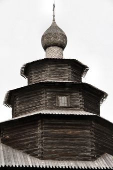 Russia: Old Wooden Architechture Royalty Free Stock Photo