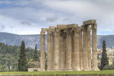 Free Temple Of Olympian Zeus In Athens Stock Photography - 18611452