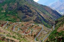 Free ROAD To Lugu Lake Stock Photo - 18611530