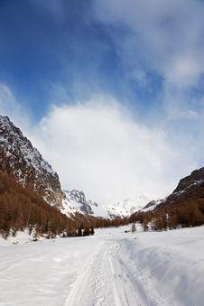 Icy Valley Stock Photos