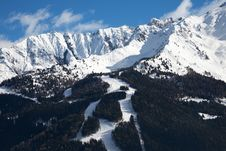 Free Ski Runs Royalty Free Stock Photo - 18611645
