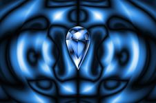 Blue Design With Drop Diamond Royalty Free Stock Photos