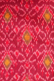 Free Pattern On Thai Cloth Texture Stock Photography - 18612092