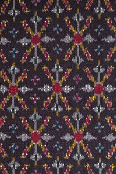 Free Pattern On Thai Cloth Texture Royalty Free Stock Image - 18612326