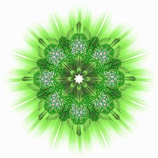 Free Green Star Ornamental Tile Royalty Free Stock Photography - 18612417