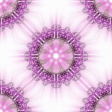 Pink Ornamental Tile Royalty Free Stock Photos